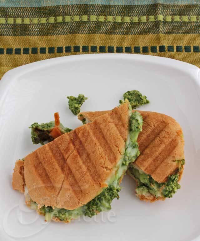 Grilled Cheese Sandwich with Kale Artichoke Pumpkin Seed Pesto Recipe