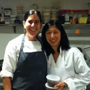 Caryn Stabinsky and Jeanette at Elm Restaurant