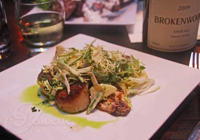 BBQ'd Australian Barramundi & Herb Garlic Sea Scallops © Jeanette's Healthy Living