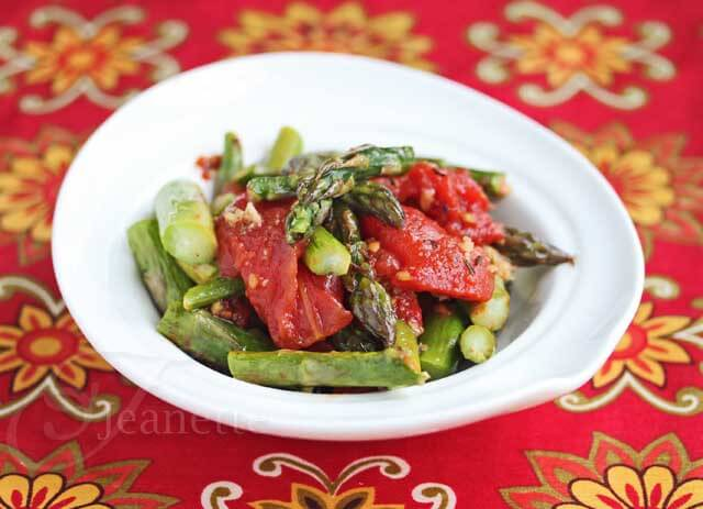 Easy Oven Roasted Tomatoes and Spring Asparagus Recipe