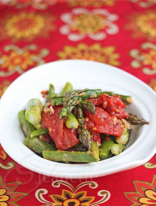Roasted Tomatoes and Spring Asparagus © Jeanette's Healthy Living