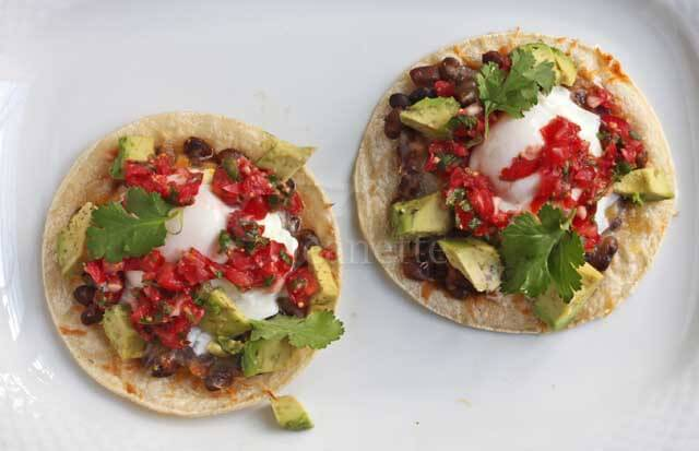 Huevos Rancheros Breakfast Tacos © Jeanette's Healthy Livings
