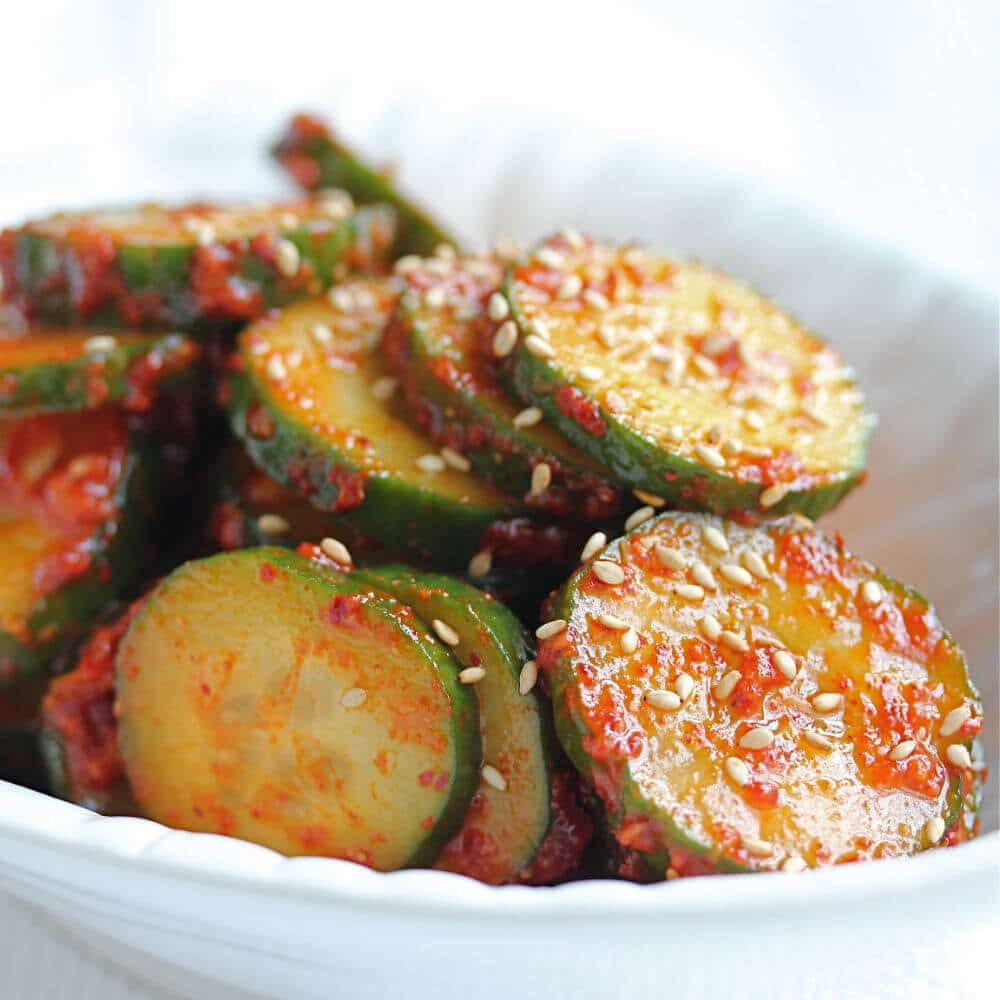 Kim Chi Cucumber Salad © Jeanette's Healthy Living