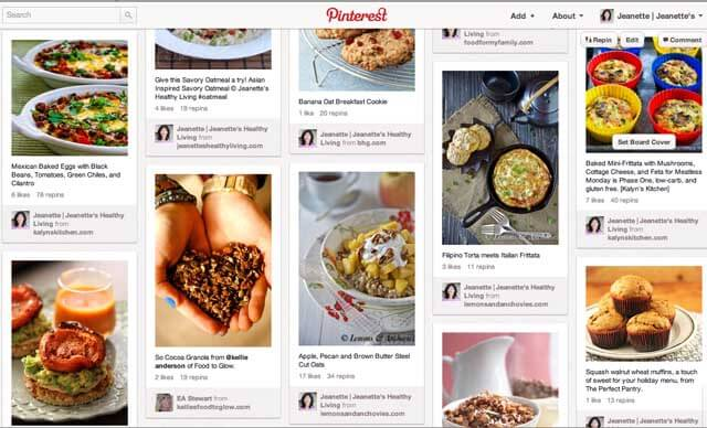 Pinterest Breakfast Board