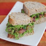 Fresh Tuna Spinach Avocado Sandwich © Jeanette's Healthy Living