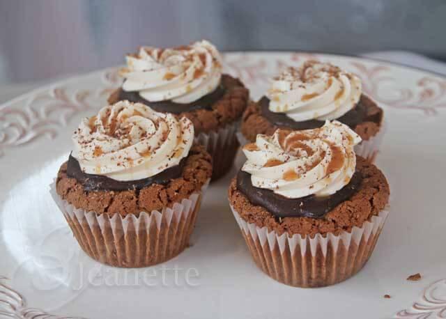 Gluten Free Salted Caramel Chocolate Cupcakes