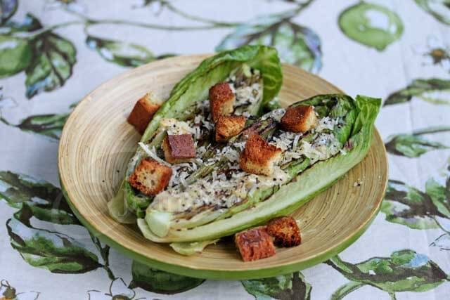 Light Grilled Caesar Salad © Jeanette's Healthy Living