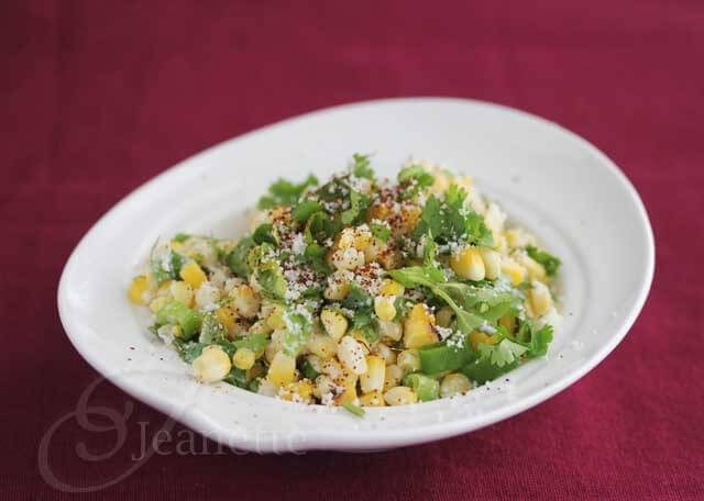 Mexican Corn Salad (Esquites) © Jeanette's Healthy Living