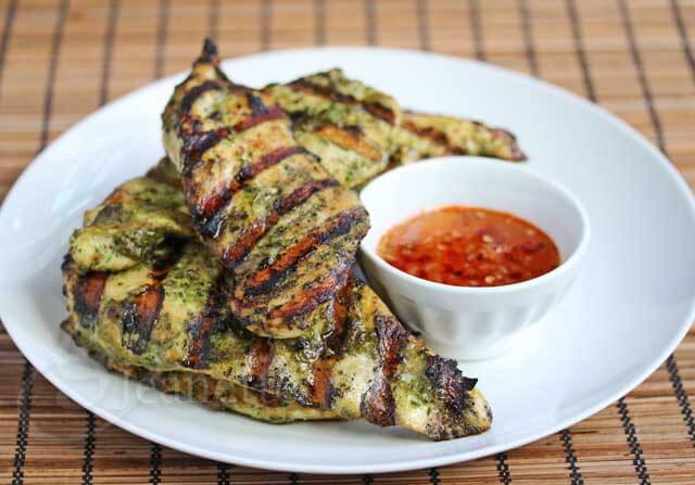 Thai Grilled Chicken with Sweet Chili Garlic Sauce © Jeanette's Healthy Living