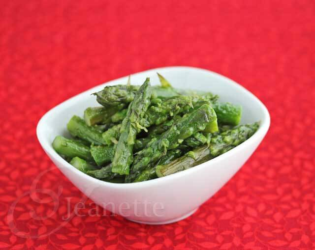 Low Residue Braised Asparagus © Jeanette's Healthy Living