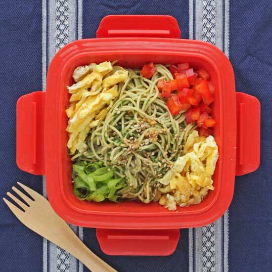 Cold Noodle Salad with Pesto and Soy Sesame Sauce © Jeanette's Healthy Living