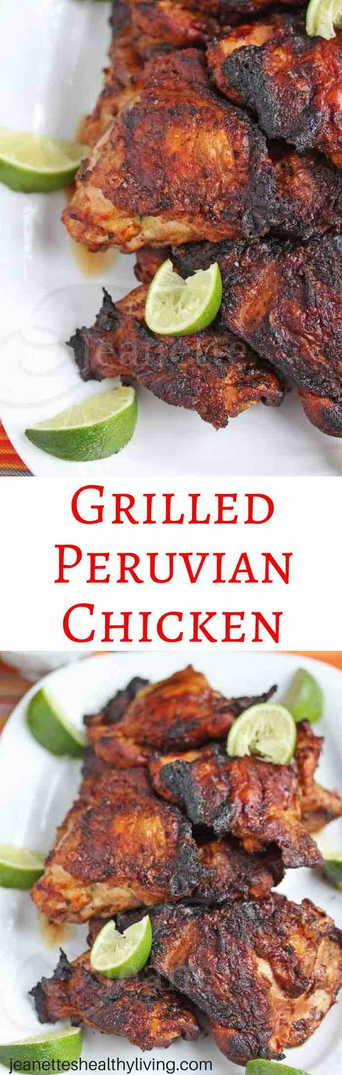 Grilled Peruvian Chicken - smoky, delicious and easy to make. This is a delicious summer chicken recipe you must try!