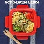 Cool Soba Noodles with Sweet Spicy Soy Sesame Sauce © Jeanette's Healthy Living