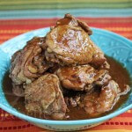 Slow Cooker Adobo Chicken © Jeanette's Healthy Living