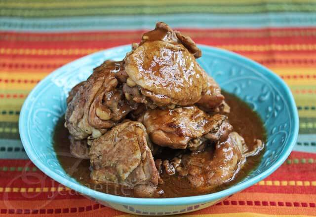 Slow Cooker Filipino Adobo Chicken © Jeanette's Healthy Living