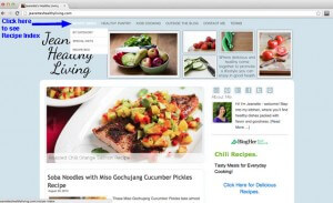 Recipe Index on Jeanette's Healthy Living