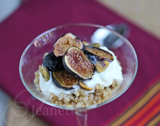 Roasted Fig Greek Yogurt and Chai Spiced Sorghum Parfait Recipe