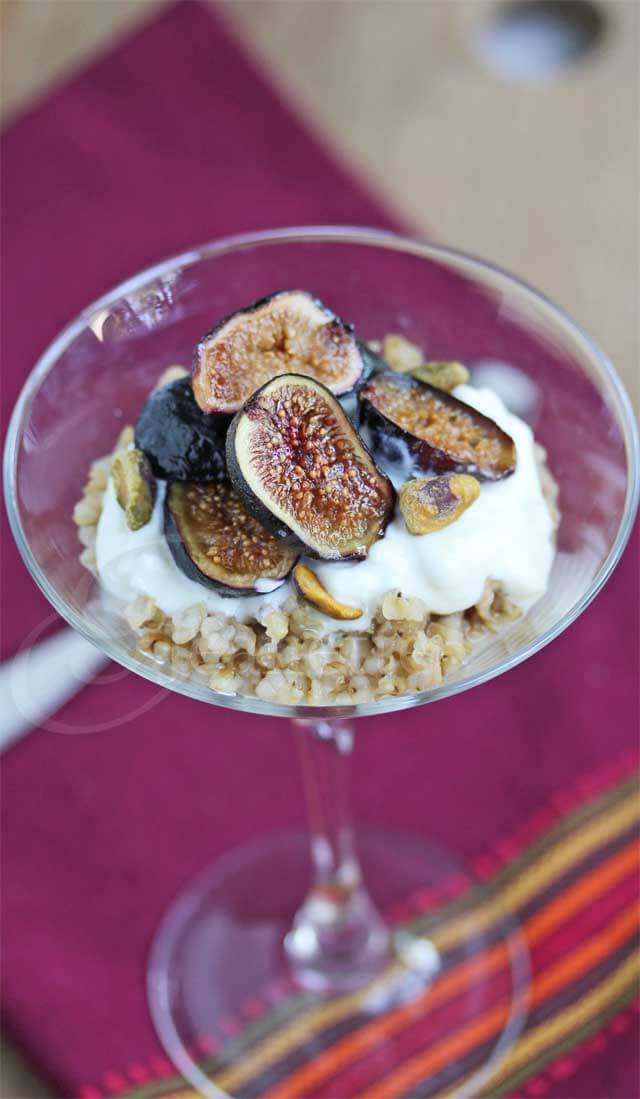 Roasted Fig Yogurt Chai Spiced Sorghum Parfait