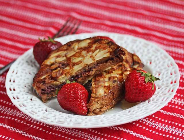 Almond Crusted Stuffed French Toast Recipe