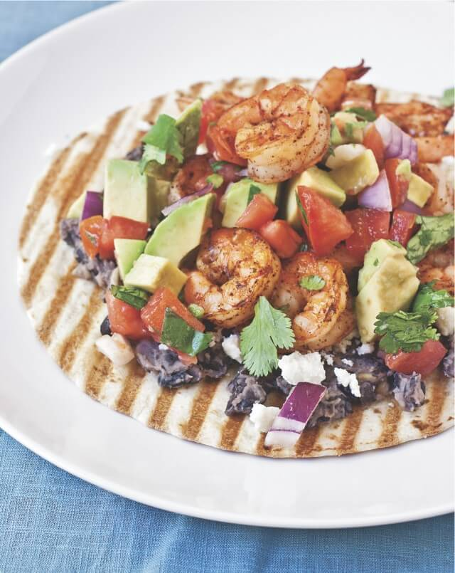 Grilled Shrimp Tostadas Recipe {The Ultimate Panini Press Cookbook Giveaway}