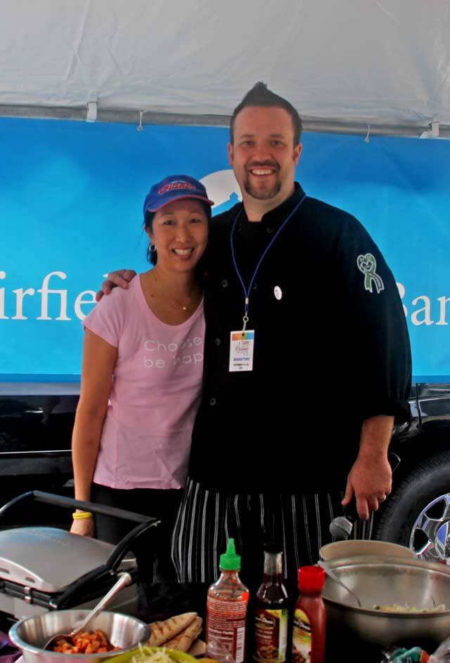 Jeanette Chen and Chef Plum Taste of Danbury