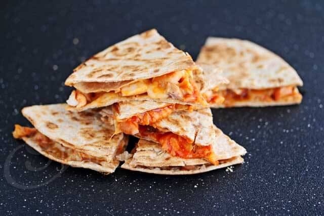 Spicy Korean Chicken Quesadillas Recipe
