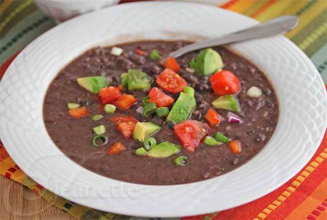Pressure Cooker Instant Pot Cuban Black Bean Soup Recipe