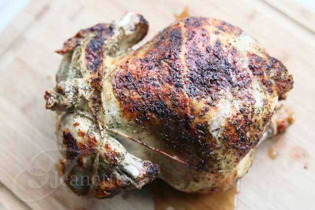 Homemade Rotisserie Chicken © Jeanette's Healthy Living