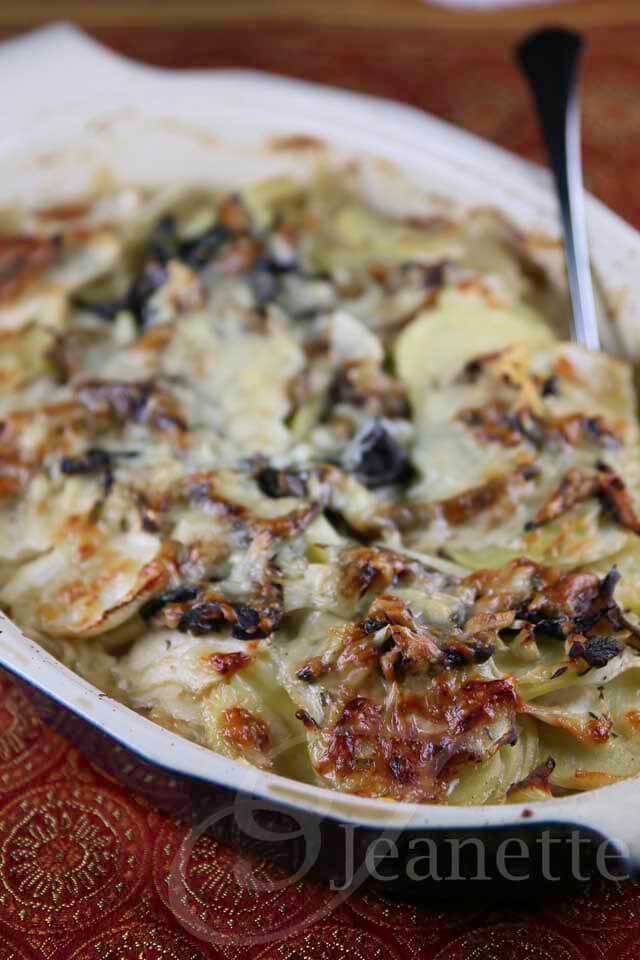 Potato Turnip Mushroom Gratin © Jeanette's Healthy Living