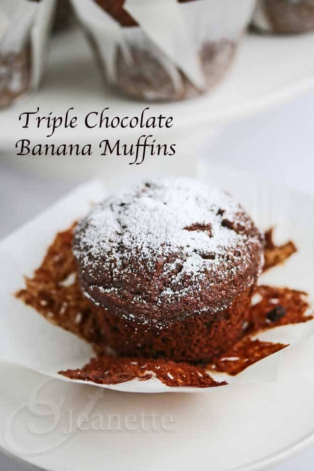 Gluten-Free Triple Chocolate Banana Muffins Recipe