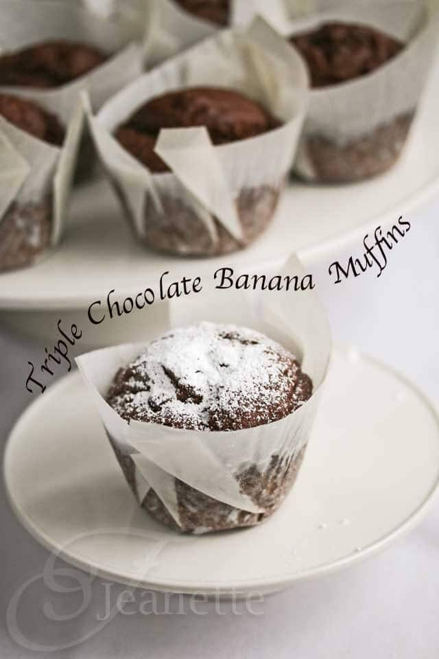 Gluten-Free Triple Chocolate Banana Muffins
