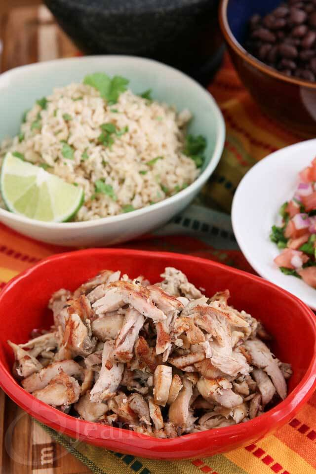 Slow Cooker Chicken Carnitas Style