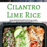Copycat Chipotle Cilantro Lime Rice - serve with beans, carnitas; great for meal prep