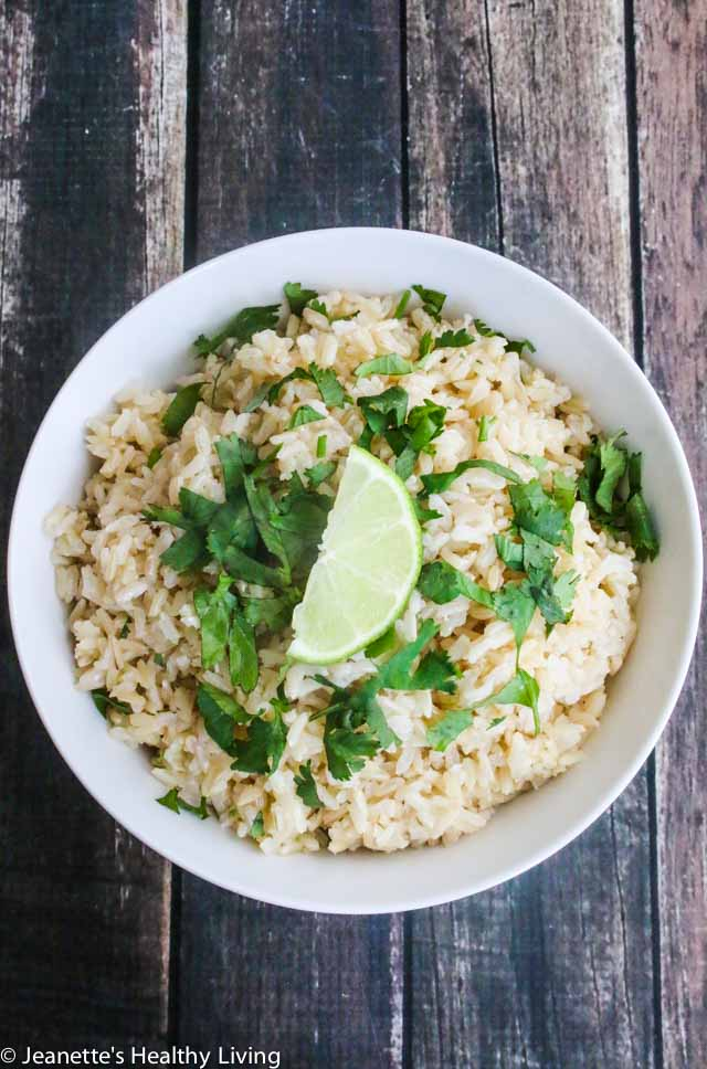 Cilantro Lime Brown Rice - copycat Chipotle rice; serve with beans, carnitas, in burritos or burrito bowls, or with chili
