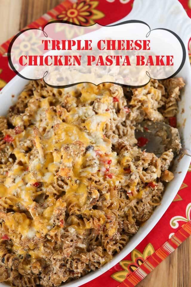 Triple Chicken Pasta Bake #light #healthy