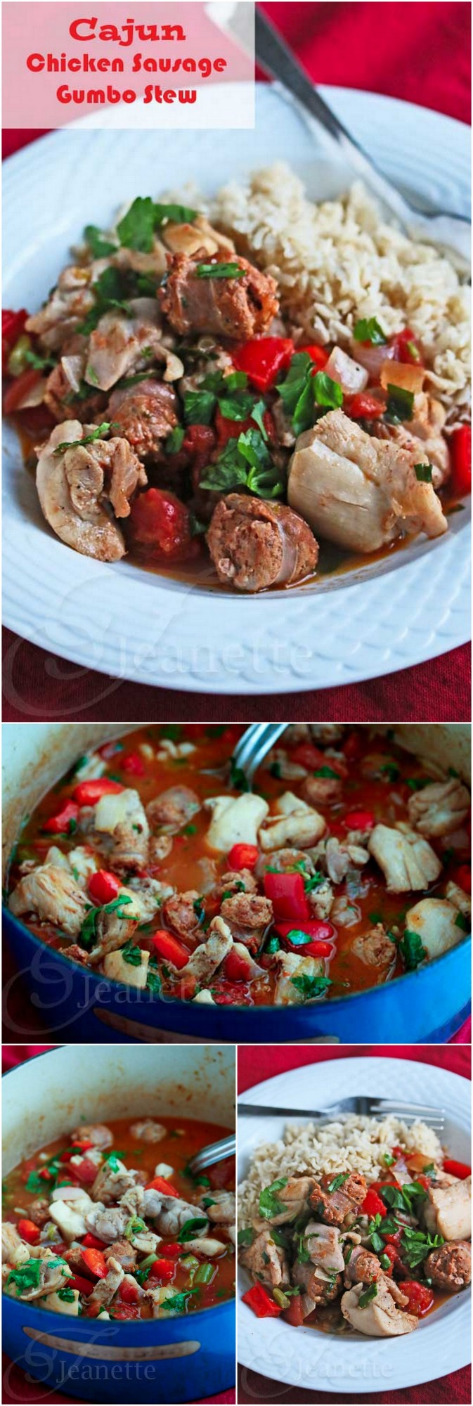 Cajun Chicken Sausage Gumbo Stew