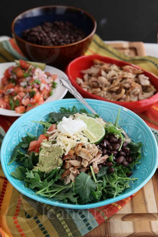 Chipotle Style Chicken Burrito Bowl © Jeanette's Healthy Living #Mexican #recipe