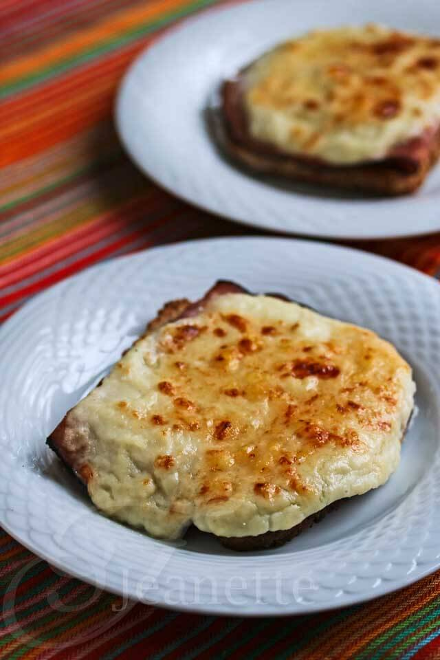 Skinny Croque Monsieur Grilled Cheese © Jeanette's Healthy Living