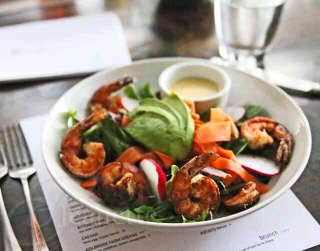 Holbrook Farm Greens Salad with Shrimp
