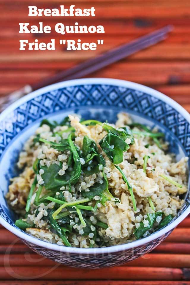 "Breakfast Kale Quinoa Fried ""Rice"""