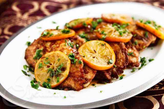 Gluten-Free Chicken Scallopine with Meyer Lemon Sauce - an elegant and delicious dinner idea - you can substitute regular lemons for Meyer lemons