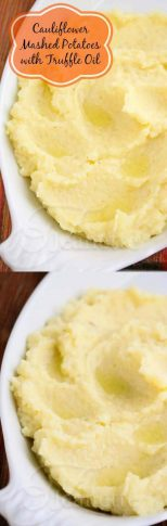 Cauliflower Mashed Potatoes with Truffle Oil - a lower carb option for special occasions