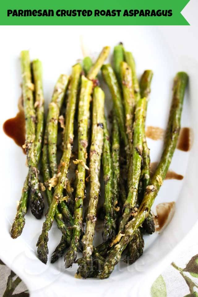 Parmesan Crusted Asparagus with Balsamic Vinegar