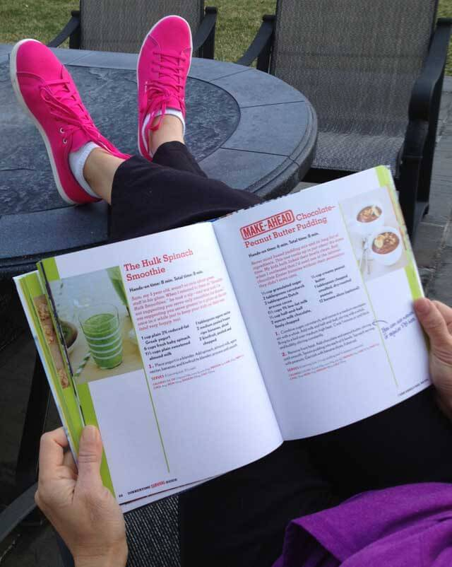 Reading a book with Reebok Skyscape