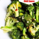 Roasted Broccoli and Chili Sauce © Jeanette's Healthy Living