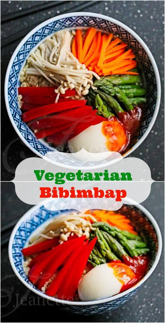 Vegetarian Bibimbap © Jeanette's Healthy Living