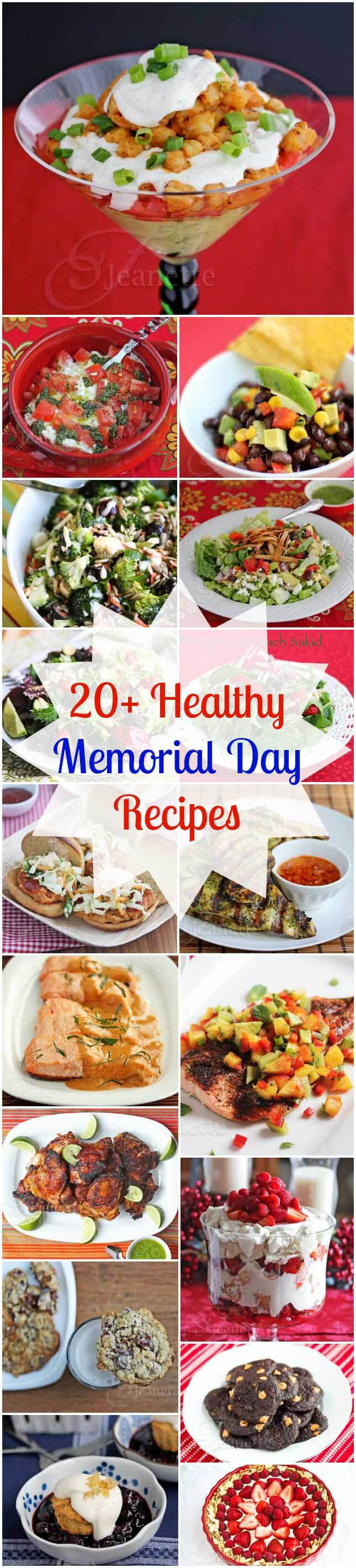 20 Healthy Memorial Day Recipes © Jeanette's Healthy Living