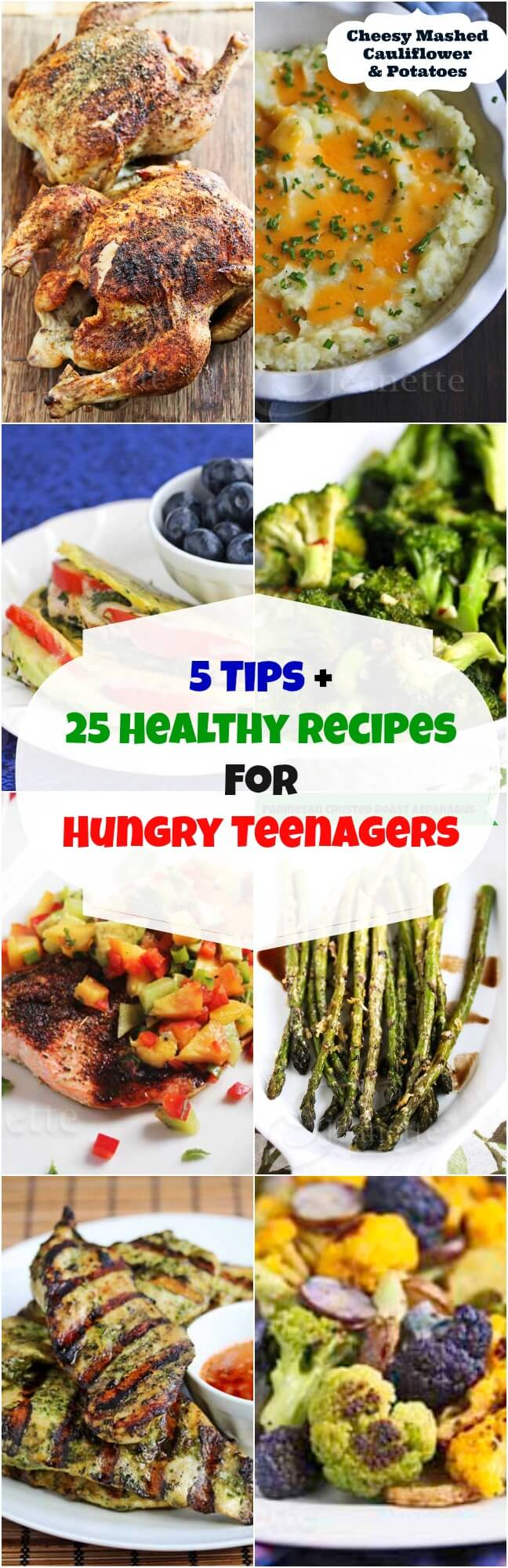 5 Tips and 25 Healthy Recipes for Hungry Teenagers