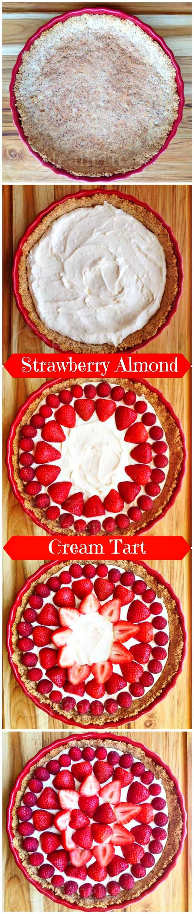 How To Make Strawberry Almond Cream Tart © Jeanette's Healthy Living