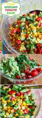 Corn Tomato Avocado Salsa Salad Recipe - serve as a dip, salsa on top of grilled chicken or fish, or as a salad